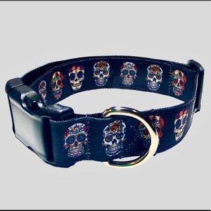 Sugar Skull Dog Collar